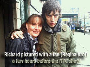 Richard Ashcroft, Bowery Ballroom, NYC 2011 with fan