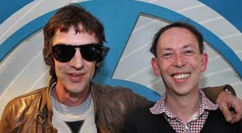 Richard Ashcroft with Steve Lamacq