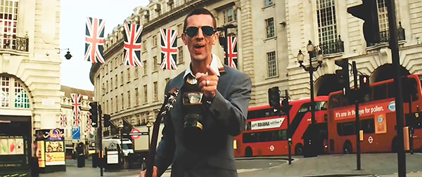Richard Ashcroft filming These People video in London